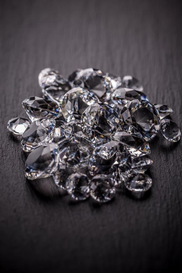 Pile des diamants photo stock
