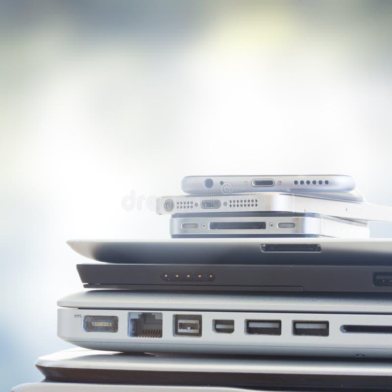 Pile des dispositifs images libres de droits