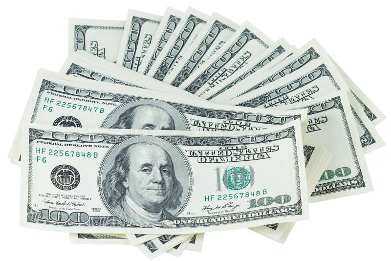 Pile des dollars image libre de droits