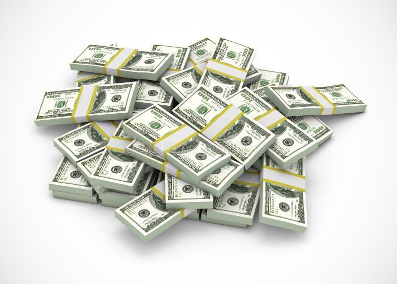 Pile des dollars illustration de vecteur