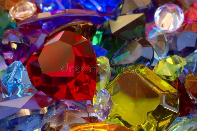 Pile des gemmes images stock