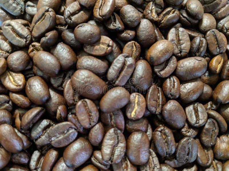 Pile des grains de café images stock