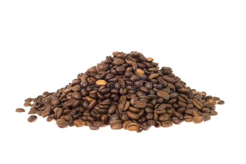 Pile des grains de café photos stock