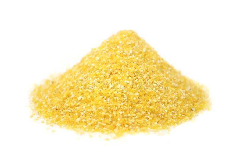 Pile des granulations de maïs images stock