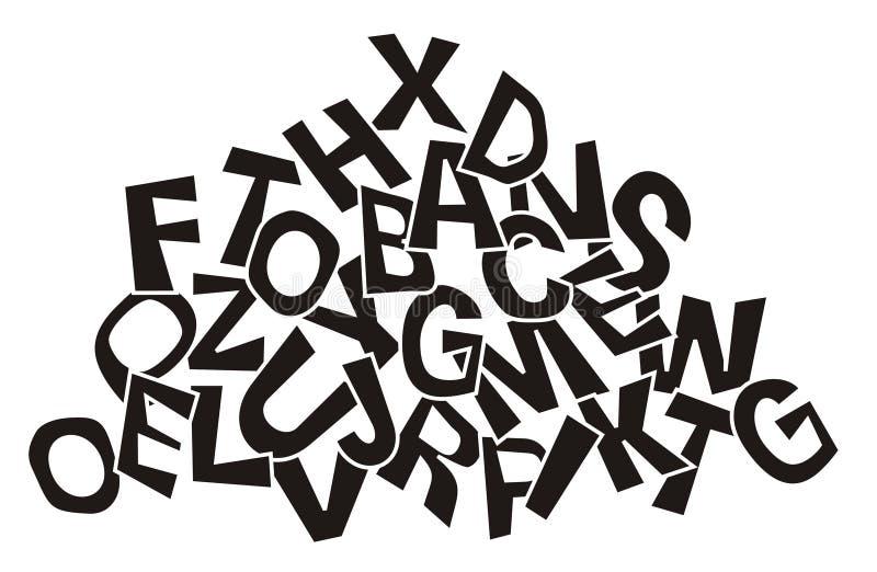 Pile des lettres illustration libre de droits