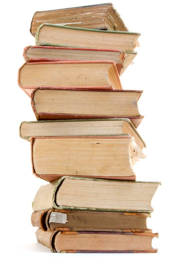 Pile des livres antiques photos stock