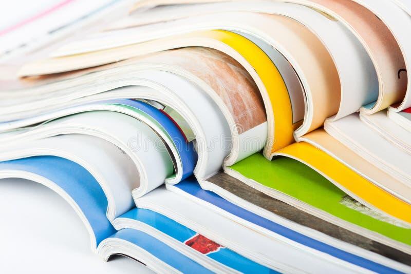 Pile des magazines photo libre de droits