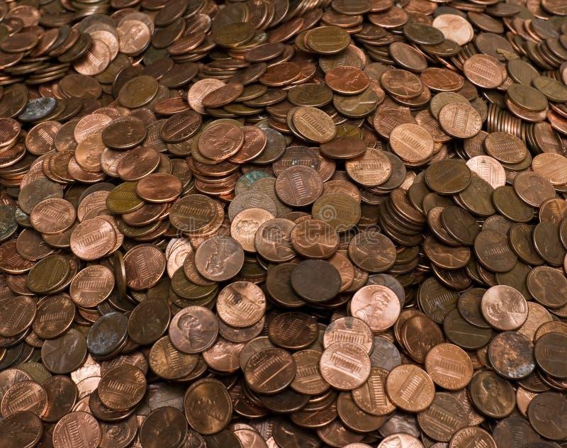 Pile des penny des USA photo stock