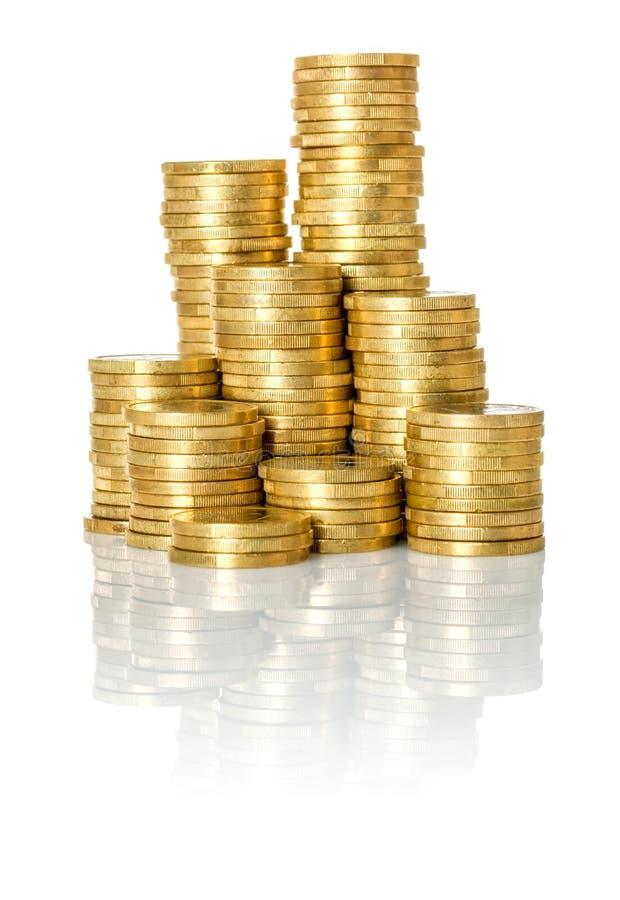 Pile des pièces de monnaie images stock