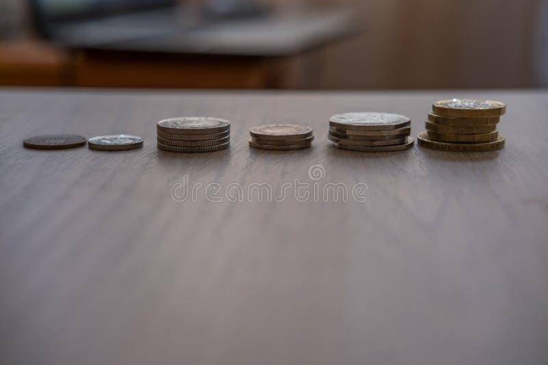 Pile des pi?ces de monnaie image stock