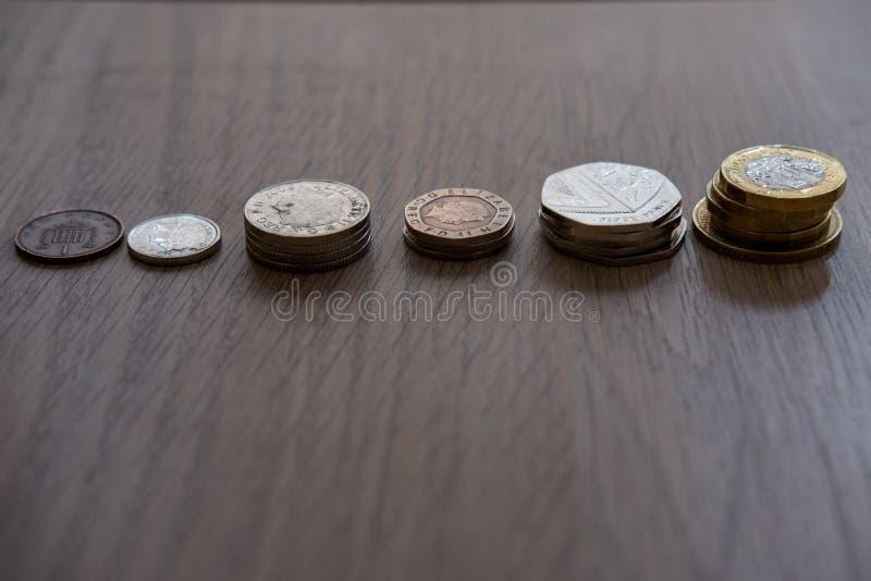 Pile des pi?ces de monnaie photo libre de droits