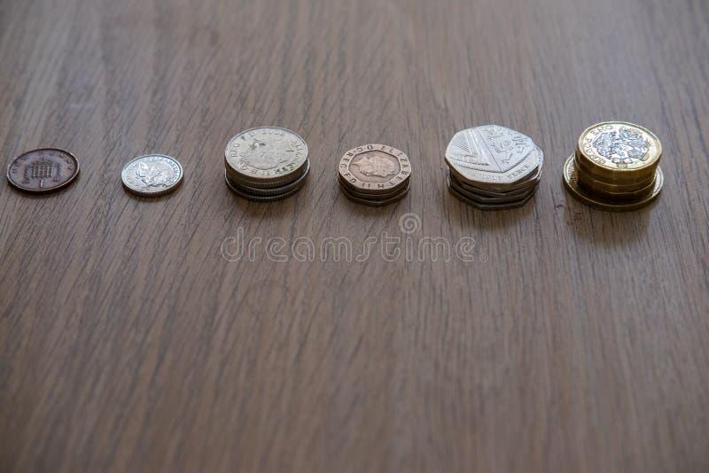 Pile des pi?ces de monnaie photographie stock