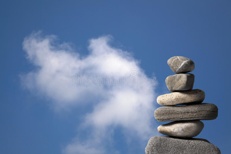 Pile des pierres photographie stock