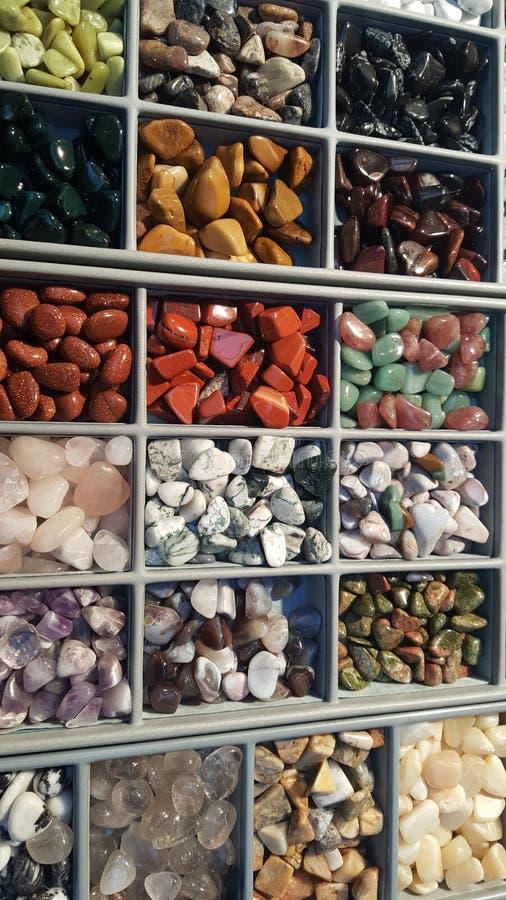 Pile des pierres semi précieuses images stock