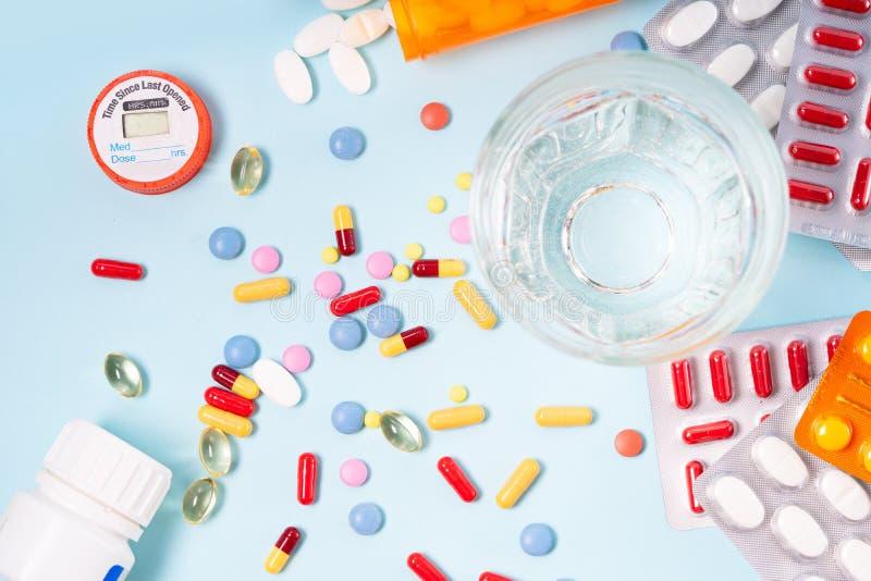 Pile des pilules photographie stock