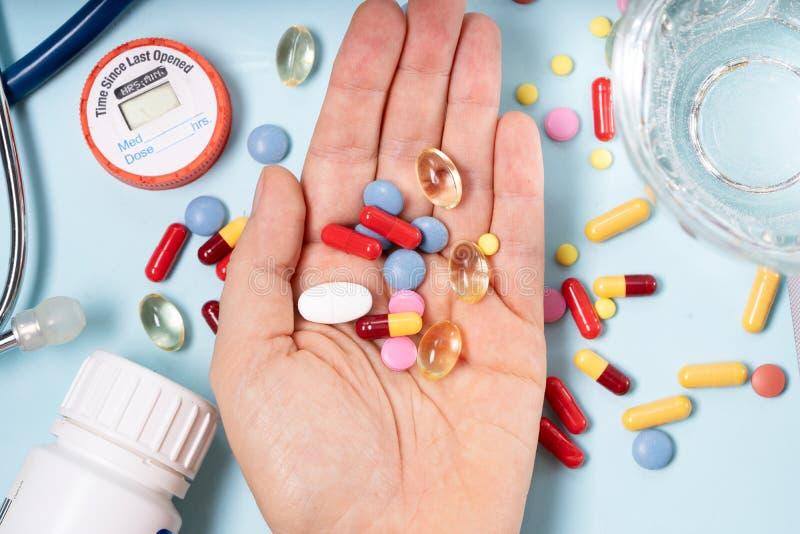 Pile des pilules images stock