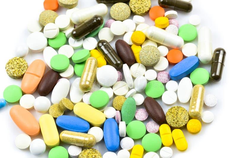 Pile des pilules et des capsules image libre de droits