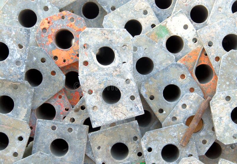 Pile des poteaux d'échafaudage photos libres de droits