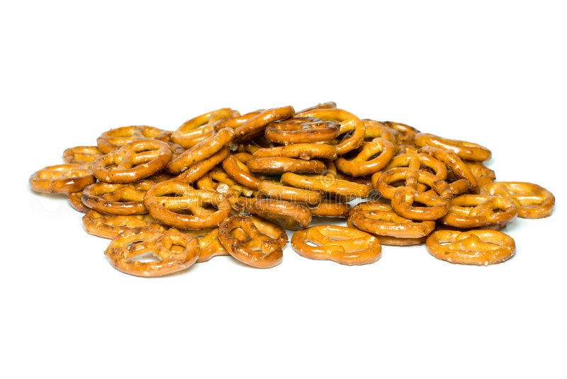 Pile des pretzels photographie stock