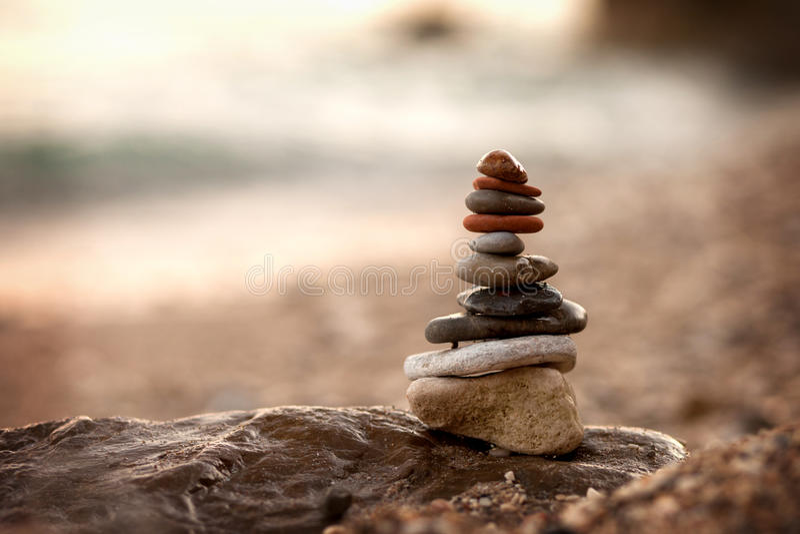 Pile des roches images stock