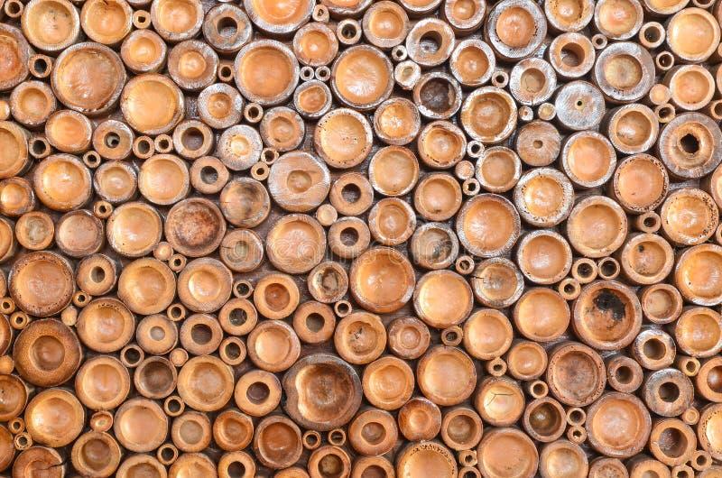 Pile des rondins en bois photographie stock libre de droits