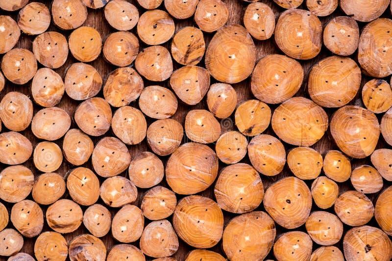 Pile des rondins en bois pour le fond photos libres de droits