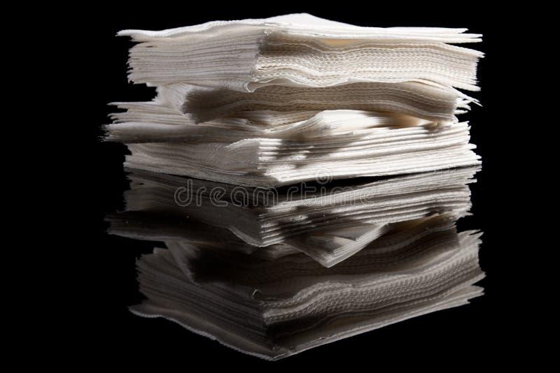 Pile des serviettes image stock