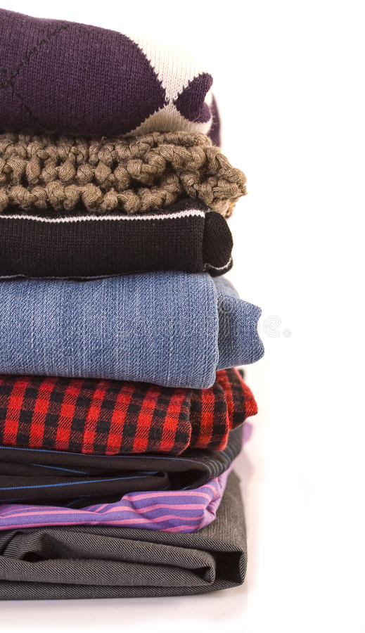 Pile des vêtements image stock
