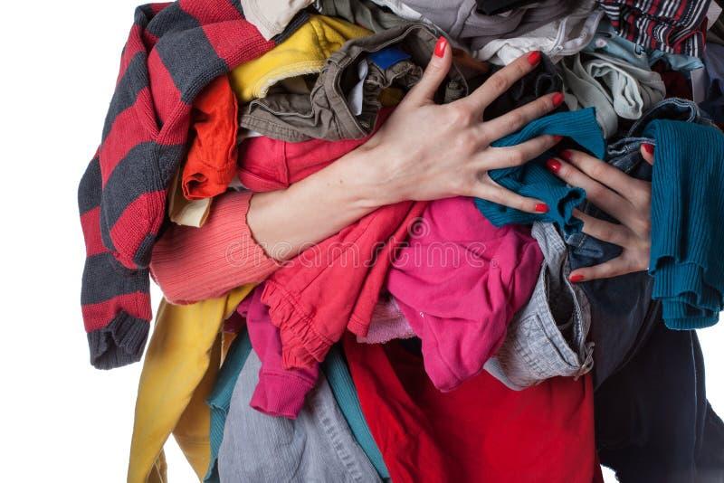 Pile des vêtements photos libres de droits
