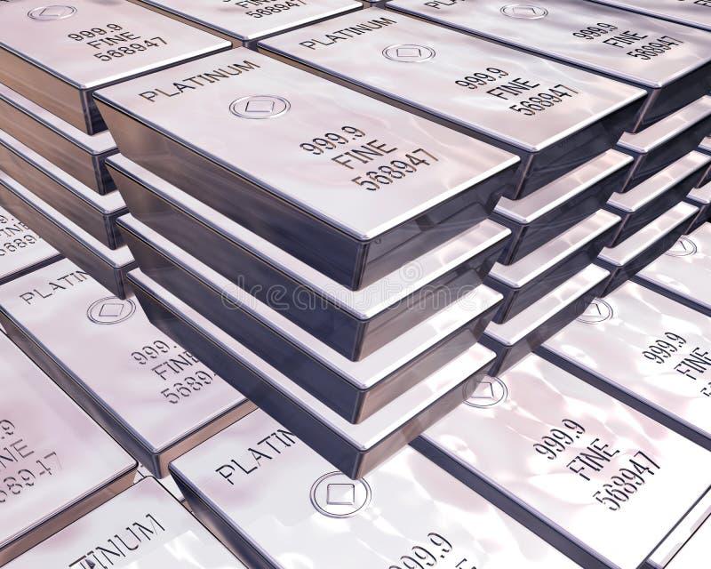 Pile di barre del platino illustrazione vettoriale