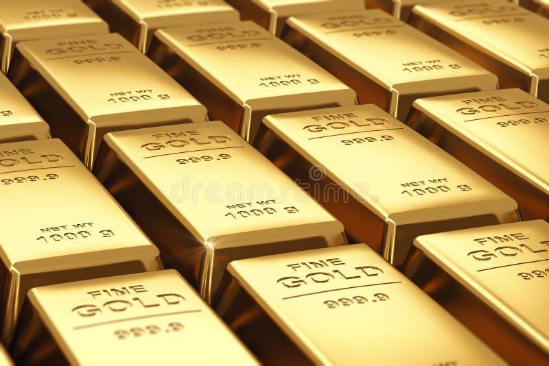 Pile di barre di oro illustrazione vettoriale