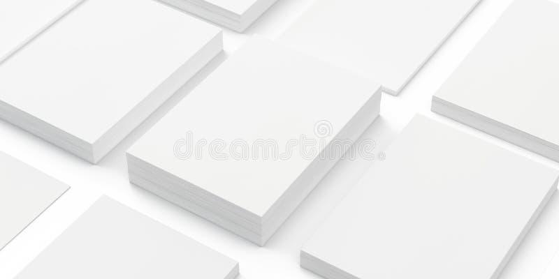 Pile di carta in bianco a4 royalty illustrazione gratis