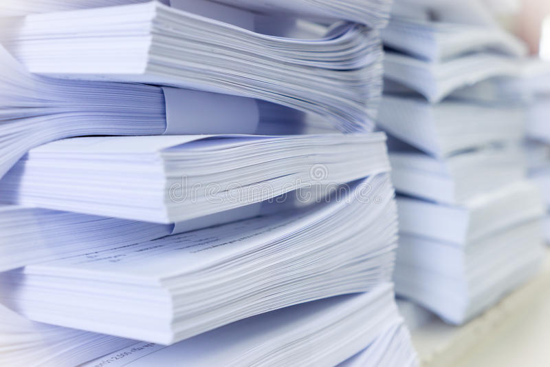 Pile di documento fotografie stock