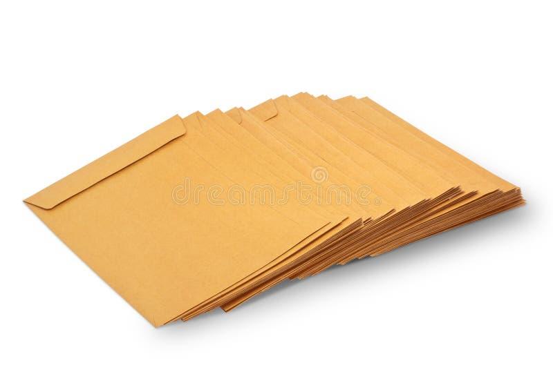 Pile di documento della busta immagine stock libera da diritti