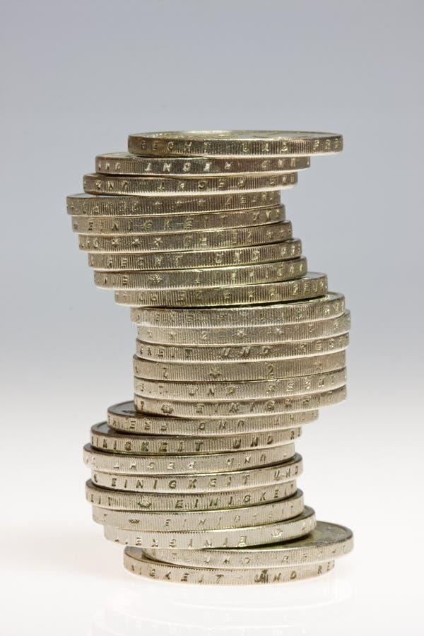 Pile di euro monete fotografia stock libera da diritti