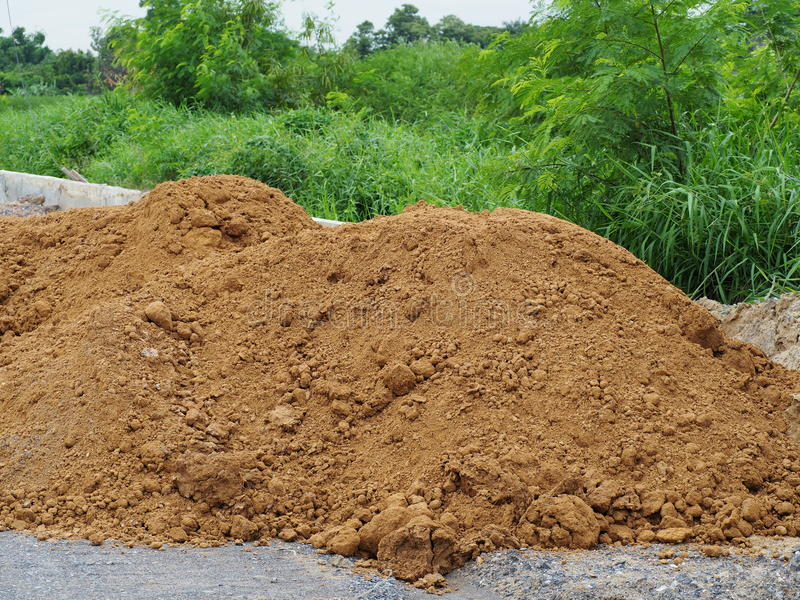 Pile of dirt stock image