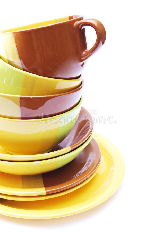 Pile of dishes royalty free stock photography
