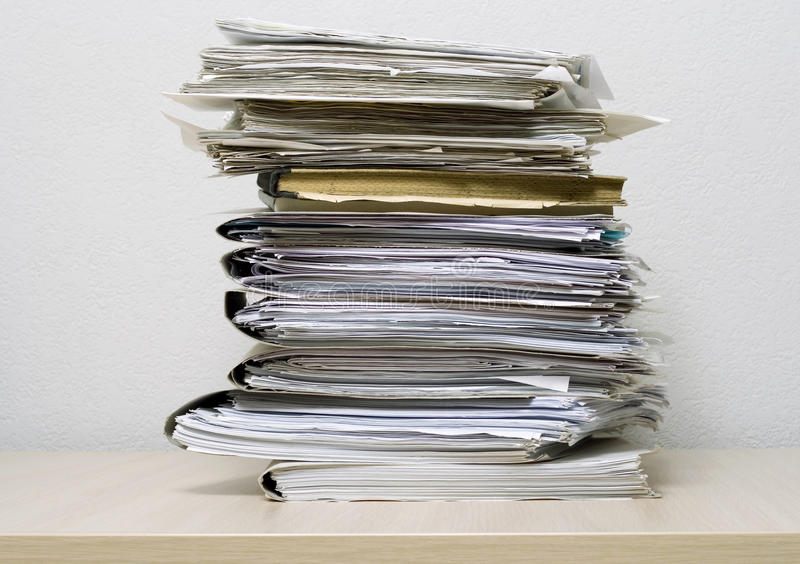 Pile of documents royalty free stock photography