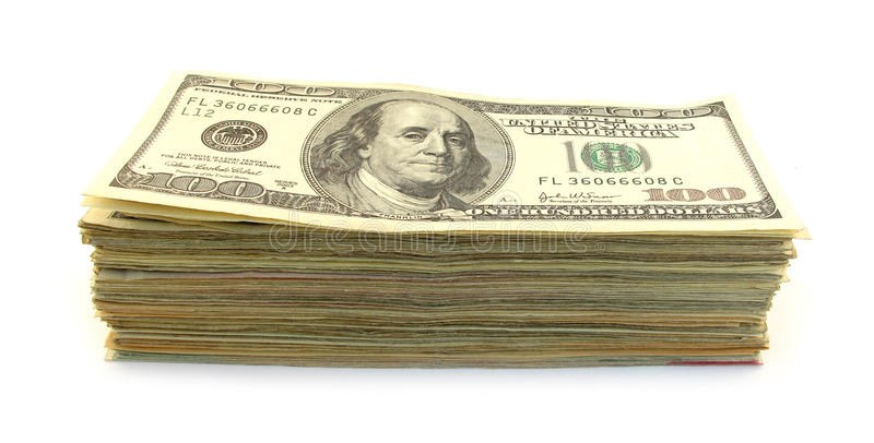 Pile of dollars royalty free stock photography