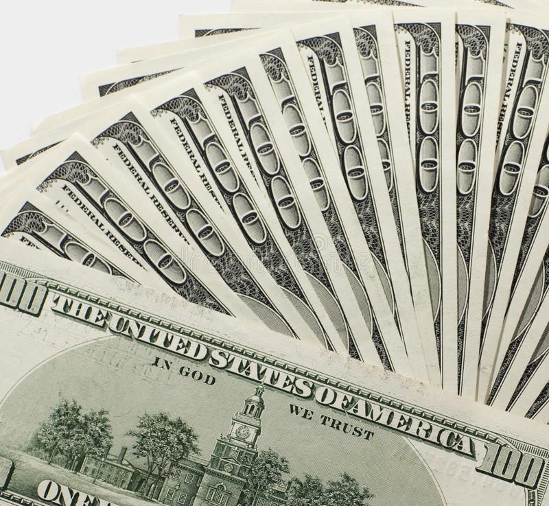 Pile of dollars royalty free stock photo