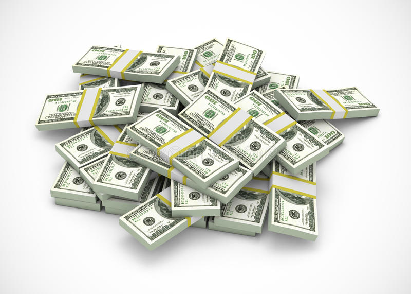 Pile of dollars vector illustration