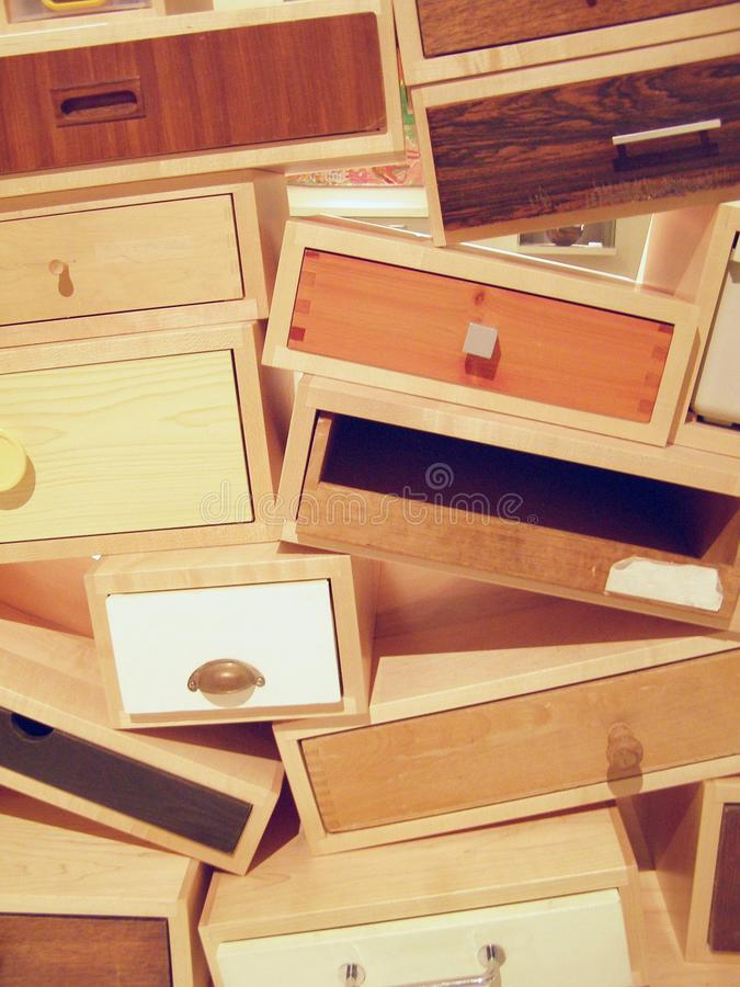 A pile of drawers stock photos