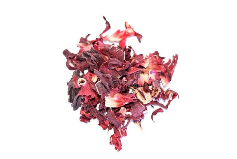 Pile of dried pomegranate flower tea stock image