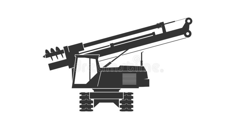 Pile driver icon royalty free stock photography