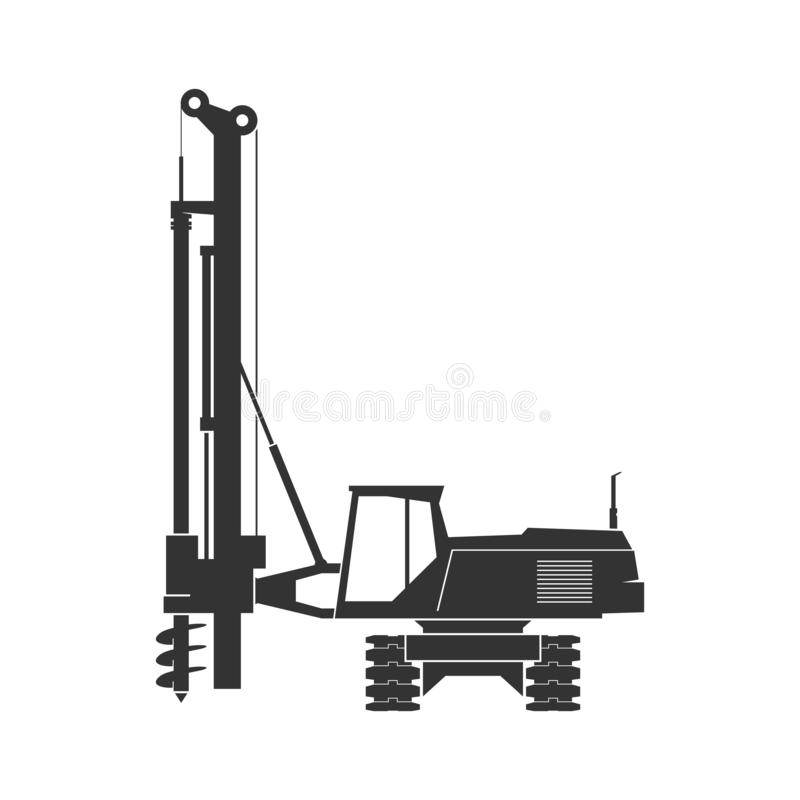 Pile driver isolated on background royalty free stock photos