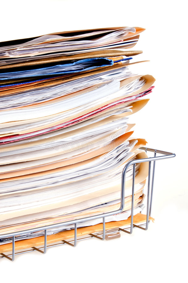 Pile du document photo stock