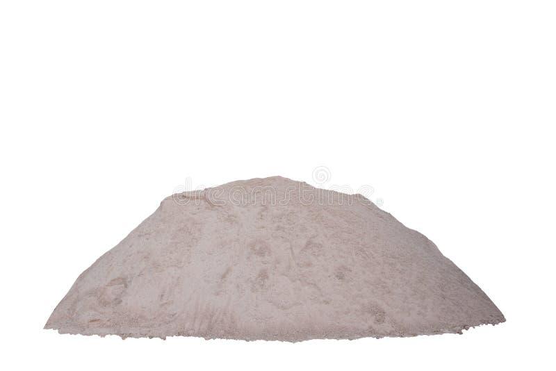 Pile du sable d'isolement sur le fond blanc photographie stock libre de droits