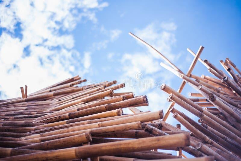 Pile en bambou image libre de droits