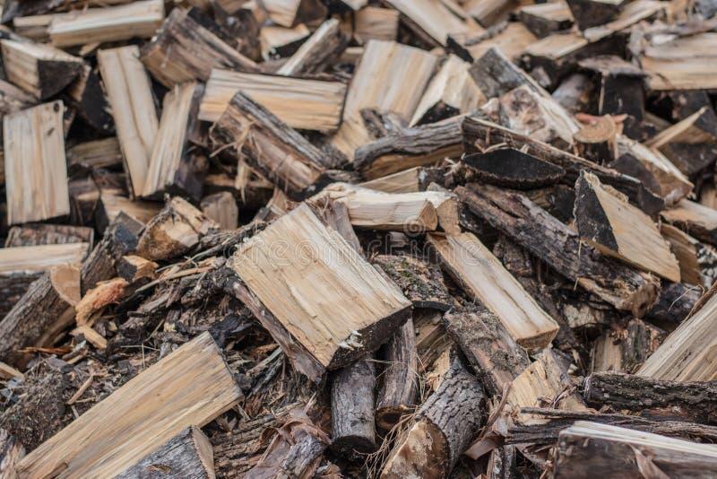 Pile en bois d'incendie image libre de droits