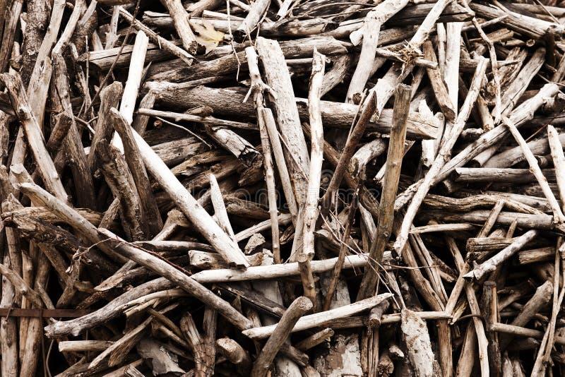 Pile en bois de logarithme naturel image stock
